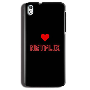 HTC Desire 816 Mobile Covers Cases NETFLIX WITH HEART - Lowest Price - Paybydaddy.com