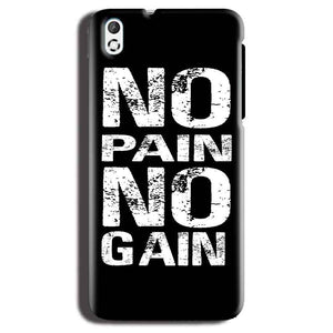 HTC Desire 816 Mobile Covers Cases No Pain No Gain Black And White - Lowest Price - Paybydaddy.com
