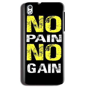 HTC Desire 816 Mobile Covers Cases No Pain No Gain Yellow Black - Lowest Price - Paybydaddy.com