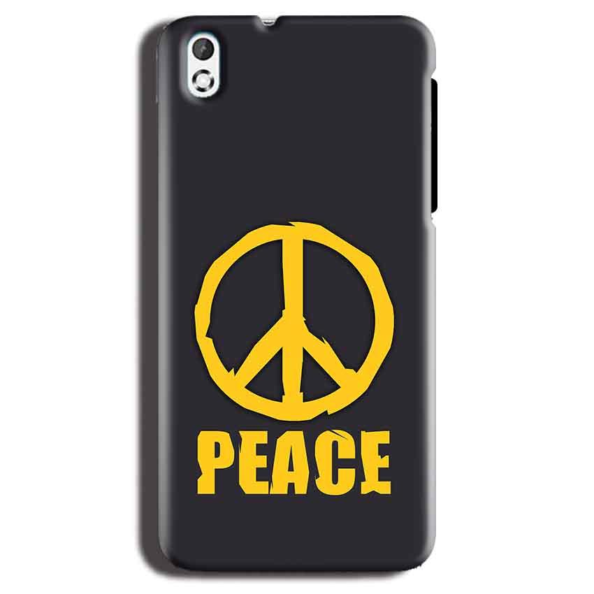 HTC Desire 816 Mobile Covers Cases Peace Blue Yellow - Lowest Price - Paybydaddy.com