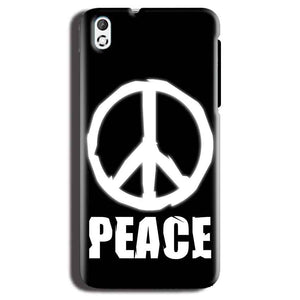 HTC Desire 816 Mobile Covers Cases Peace Sign In White - Lowest Price - Paybydaddy.com
