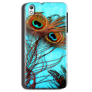 HTC Desire 816 Mobile Covers Cases Peacock blue wings - Lowest Price - Paybydaddy.com