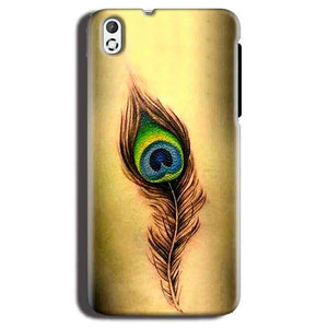 HTC Desire 816 Mobile Covers Cases Peacock coloured art - Lowest Price - Paybydaddy.com
