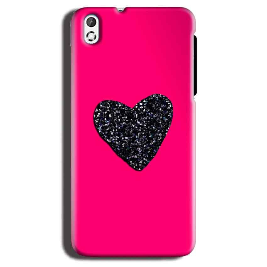 HTC Desire 816 Mobile Covers Cases Pink Glitter Heart - Lowest Price - Paybydaddy.com