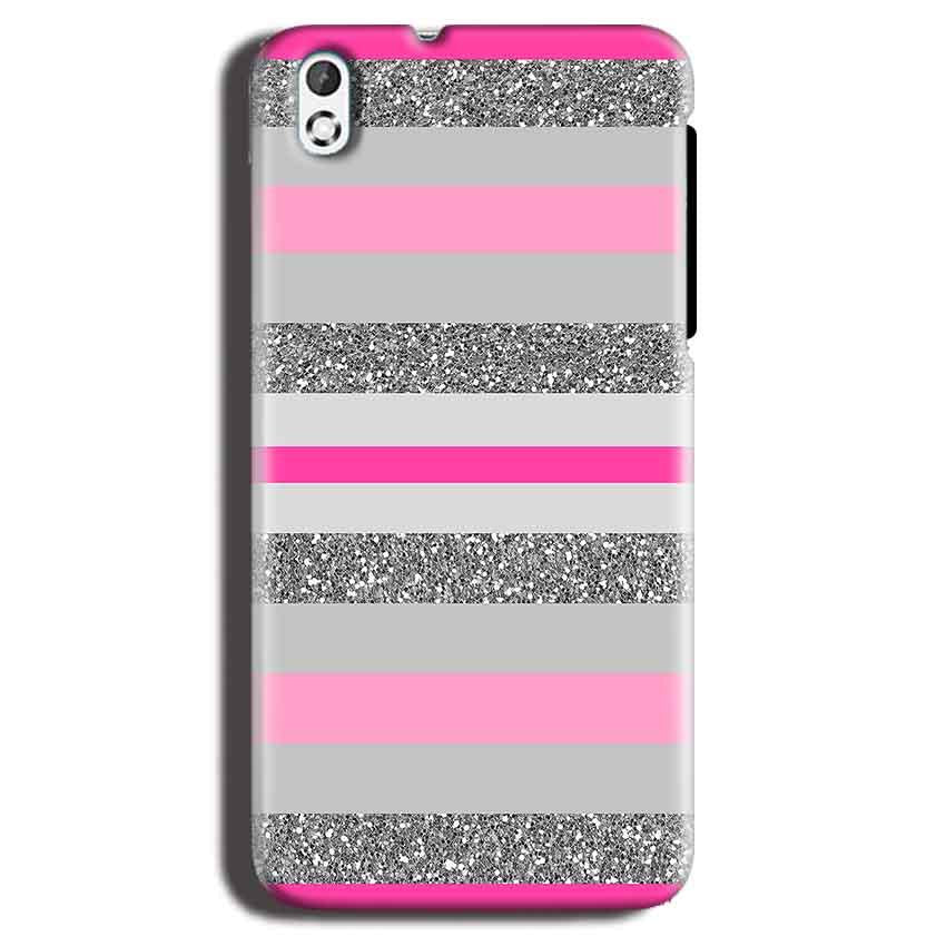 HTC Desire 816 Mobile Covers Cases Pink colour pattern - Lowest Price - Paybydaddy.com