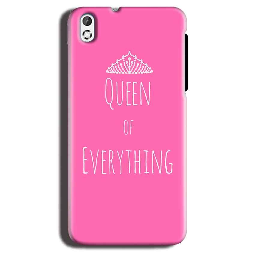 HTC Desire 816 Mobile Covers Cases Queen Of Everything Pink White - Lowest Price - Paybydaddy.com