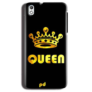 HTC Desire 816 Mobile Covers Cases Queen With Crown in gold - Lowest Price - Paybydaddy.com