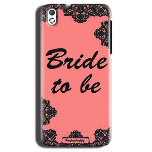 HTC Desire 816 Mobile Covers Cases Mobile Covers Cases bride to be with ring Black Pink - Lowest Price - Paybydaddy.com