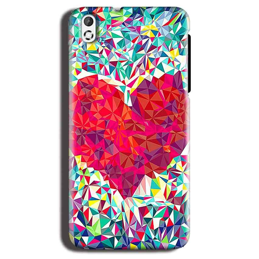 HTC Desire 816 Mobile Covers Cases heart Prisma design - Lowest Price - Paybydaddy.com