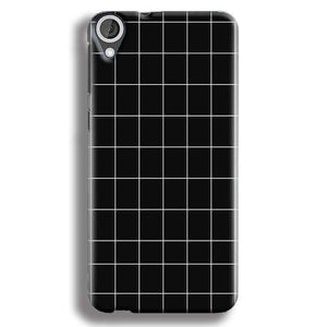 HTC Desire 820 Mobile Covers Cases Black with White Checks - Lowest Price - Paybydaddy.com