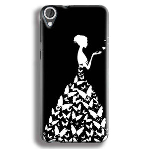 HTC Desire 820 Mobile Covers Cases Butterfly black girl - Lowest Price - Paybydaddy.com
