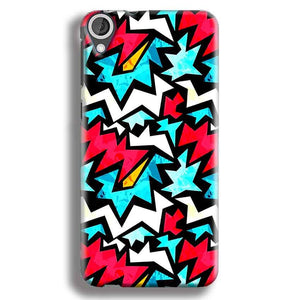HTC Desire 820 Mobile Covers Cases Colored Design Pattern - Lowest Price - Paybydaddy.com