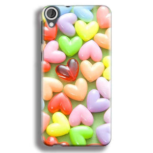 HTC Desire 820 Mobile Covers Cases Heart in Candy - Lowest Price - Paybydaddy.com