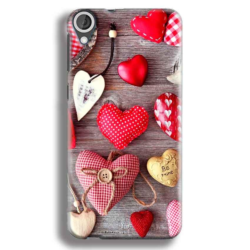 HTC Desire 820 Mobile Covers Cases Hearts- Lowest Price - Paybydaddy.com