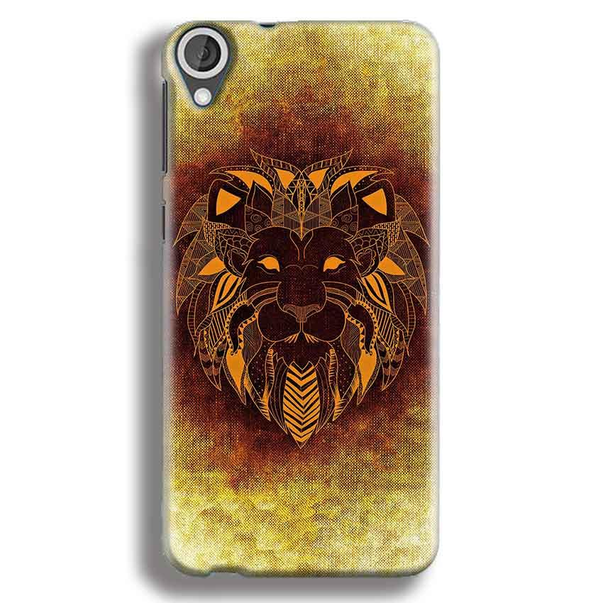 HTC Desire 820 Mobile Covers Cases Lion face art - Lowest Price - Paybydaddy.com