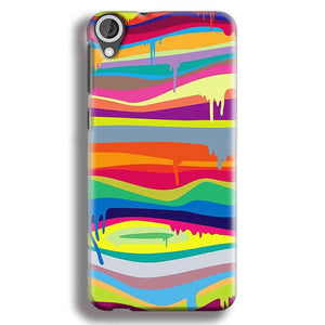 HTC Desire 820 Mobile Covers Cases Melted colours - Lowest Price - Paybydaddy.com