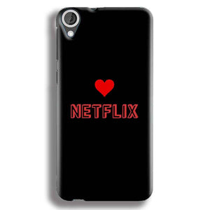 HTC Desire 820 Mobile Covers Cases NETFLIX WITH HEART - Lowest Price - Paybydaddy.com