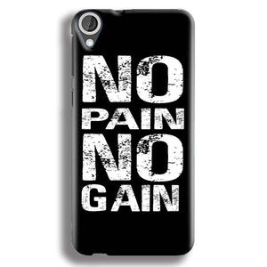 HTC Desire 820 Mobile Covers Cases No Pain No Gain Black And White - Lowest Price - Paybydaddy.com