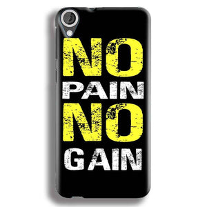 HTC Desire 820 Mobile Covers Cases No Pain No Gain Yellow Black - Lowest Price - Paybydaddy.com