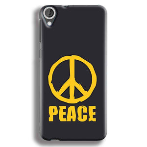 HTC Desire 820 Mobile Covers Cases Peace Blue Yellow - Lowest Price - Paybydaddy.com