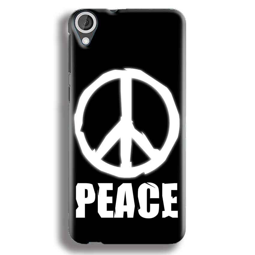 HTC Desire 820 Mobile Covers Cases Peace Sign In White - Lowest Price - Paybydaddy.com