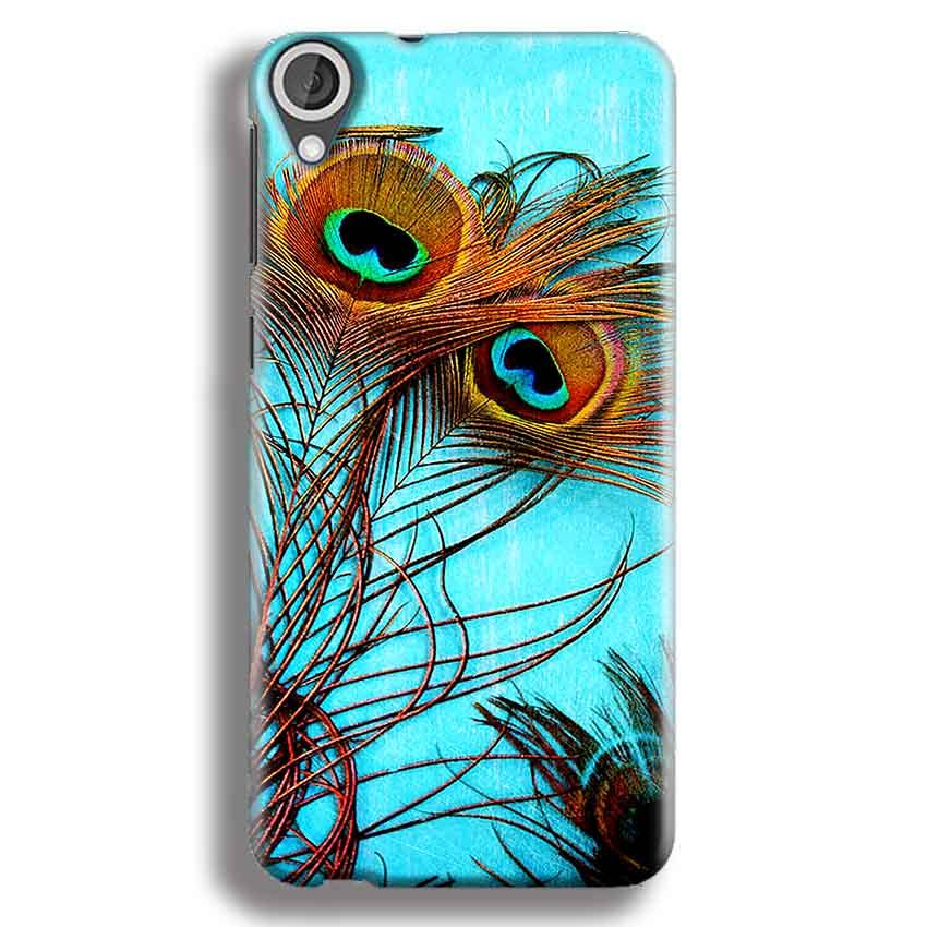 HTC Desire 820 Mobile Covers Cases Peacock blue wings - Lowest Price - Paybydaddy.com