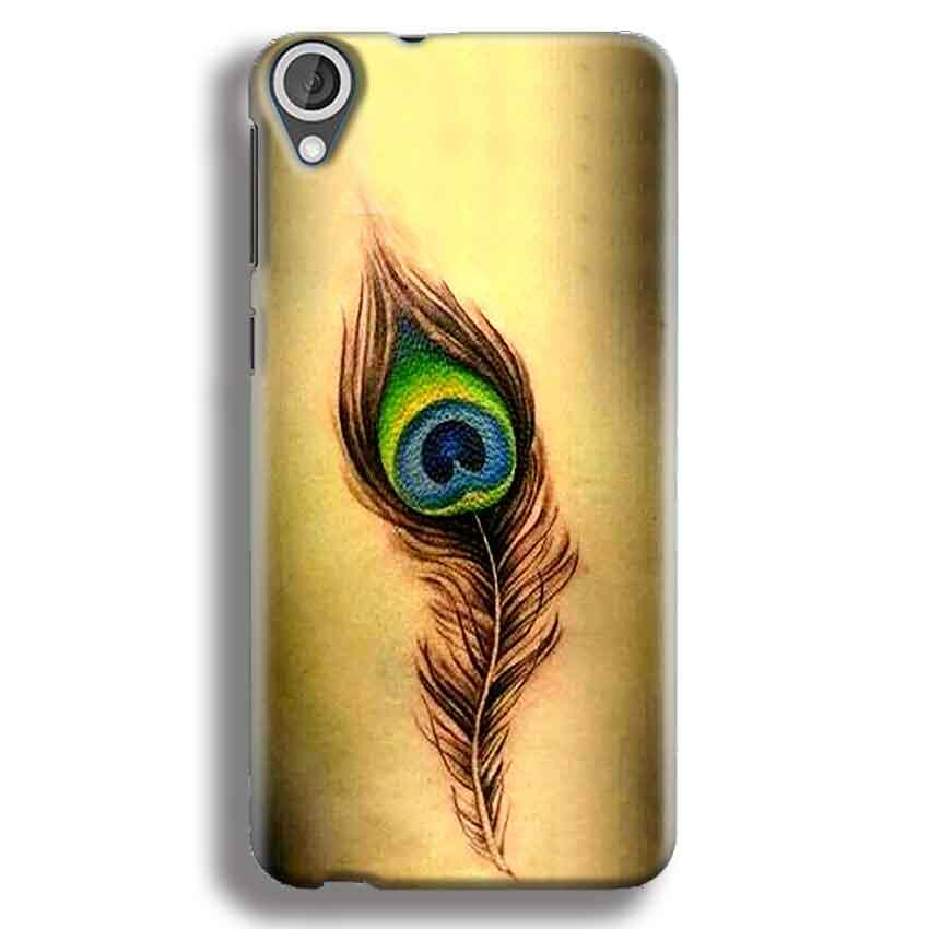 HTC Desire 820 Mobile Covers Cases Peacock coloured art - Lowest Price - Paybydaddy.com