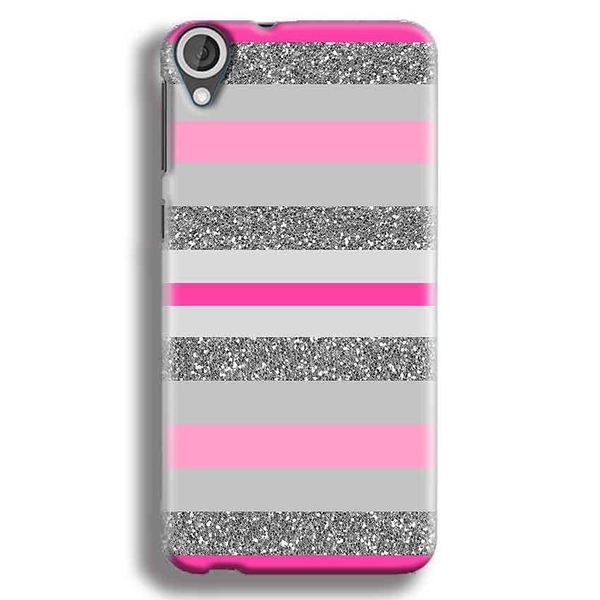 HTC Desire 820 Mobile Covers Cases Pink colour pattern - Lowest Price - Paybydaddy.com