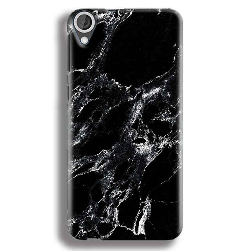 HTC Desire 820 Mobile Covers Cases Pure Black Marble Texture - Lowest Price - Paybydaddy.com