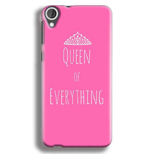 HTC Desire 820 Mobile Covers Cases Queen Of Everything Pink White - Lowest Price - Paybydaddy.com