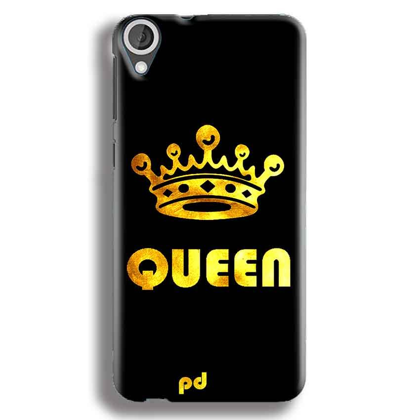 HTC Desire 820 Mobile Covers Cases Queen With Crown in gold - Lowest Price - Paybydaddy.com