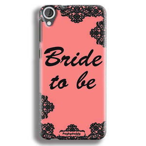 HTC Desire 820 Mobile Covers Cases Mobile Covers Cases bride to be with ring Black Pink - Lowest Price - Paybydaddy.com