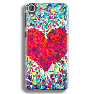 HTC Desire 820 Mobile Covers Cases heart Prisma design - Lowest Price - Paybydaddy.com