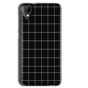 HTC Desire 825 Mobile Covers Cases Black with White Checks - Lowest Price - Paybydaddy.com