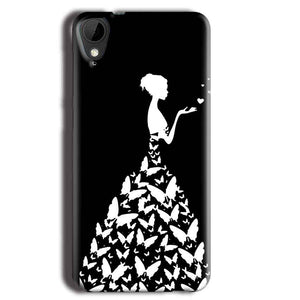 HTC Desire 825 Mobile Covers Cases Butterfly black girl - Lowest Price - Paybydaddy.com