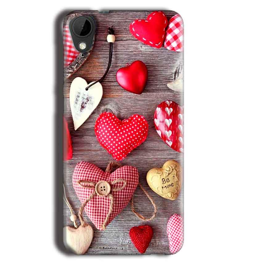 HTC Desire 825 Mobile Covers Cases Hearts- Lowest Price - Paybydaddy.com