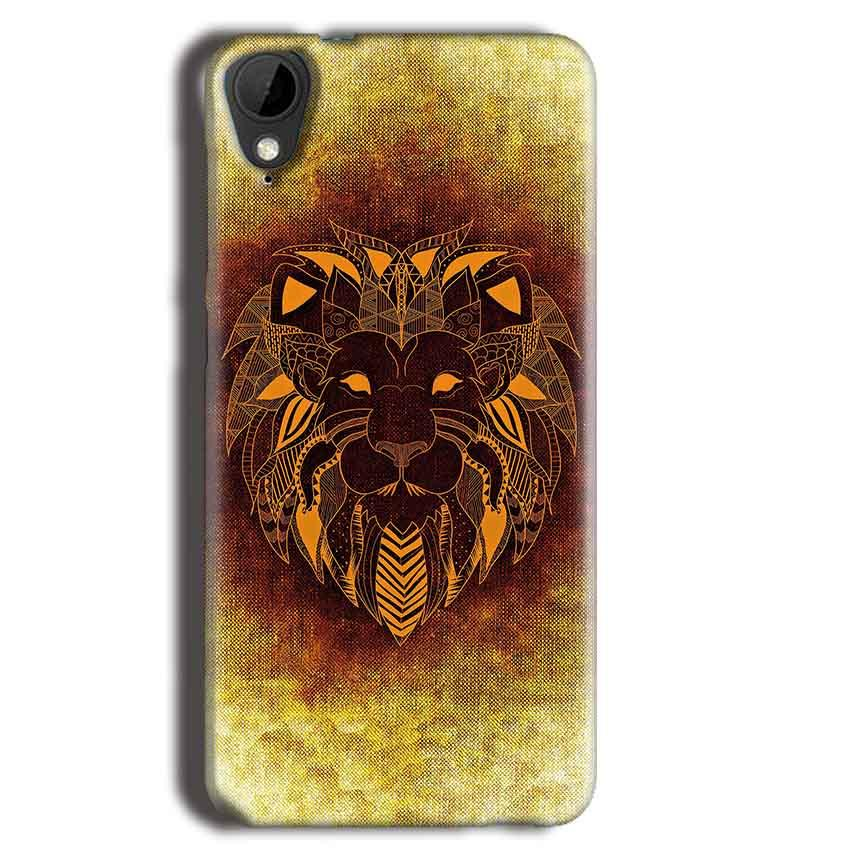 HTC Desire 825 Mobile Covers Cases Lion face art - Lowest Price - Paybydaddy.com