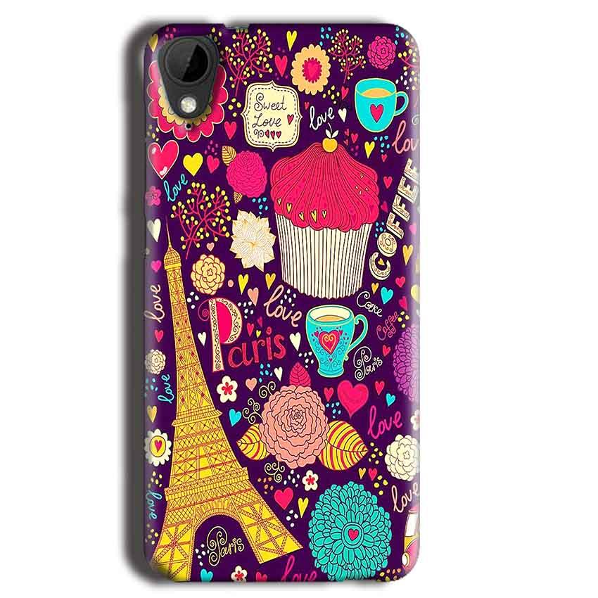 HTC Desire 825 Mobile Covers Cases Paris Sweet love - Lowest Price - Paybydaddy.com
