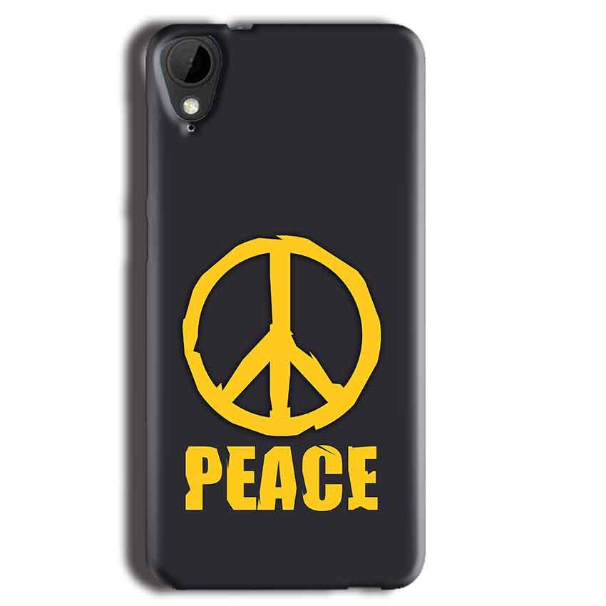 HTC Desire 825 Mobile Covers Cases Peace Blue Yellow - Lowest Price - Paybydaddy.com