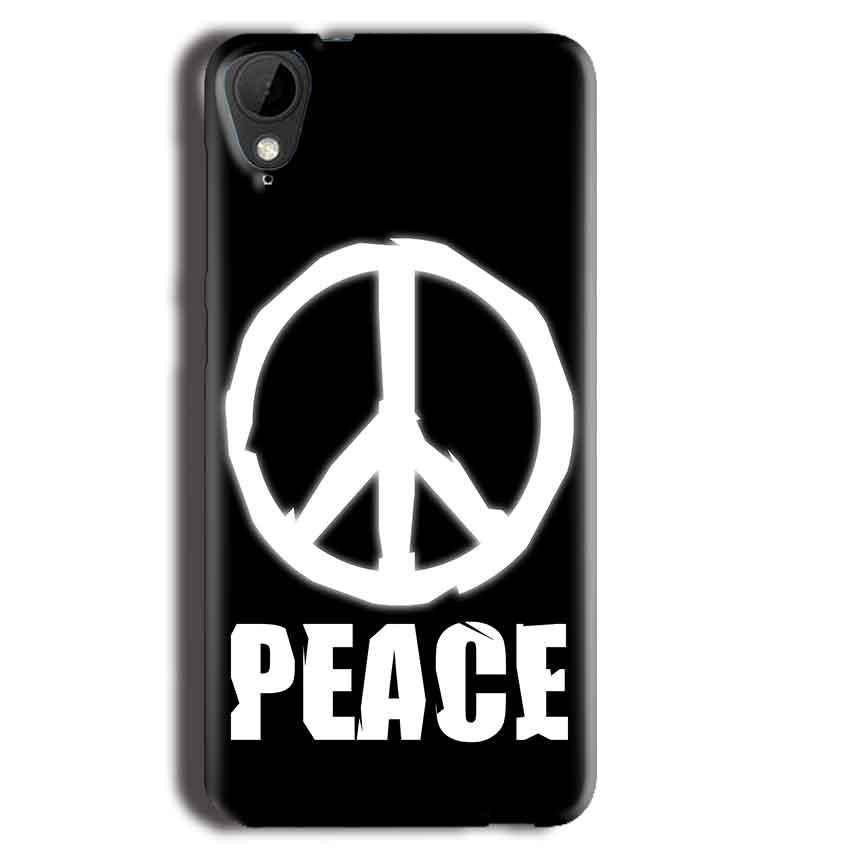 HTC Desire 825 Mobile Covers Cases Peace Sign In White - Lowest Price - Paybydaddy.com