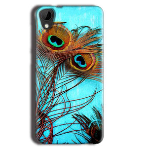 HTC Desire 825 Mobile Covers Cases Peacock blue wings - Lowest Price - Paybydaddy.com