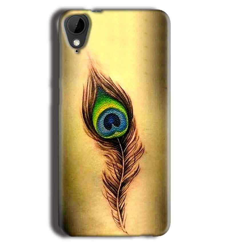 HTC Desire 825 Mobile Covers Cases Peacock coloured art - Lowest Price - Paybydaddy.com