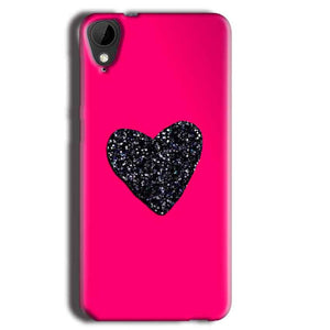 HTC Desire 825 Mobile Covers Cases Pink Glitter Heart - Lowest Price - Paybydaddy.com