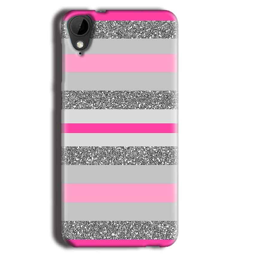 HTC Desire 825 Mobile Covers Cases Pink colour pattern - Lowest Price - Paybydaddy.com