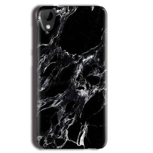 HTC Desire 825 Mobile Covers Cases Pure Black Marble Texture - Lowest Price - Paybydaddy.com