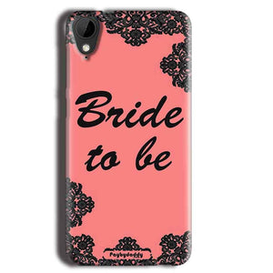 HTC Desire 825 Mobile Covers Cases Mobile Covers Cases bride to be with ring Black Pink - Lowest Price - Paybydaddy.com