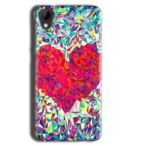 HTC Desire 825 Mobile Covers Cases heart Prisma design - Lowest Price - Paybydaddy.com