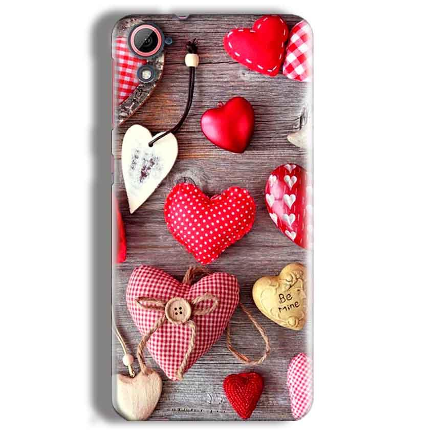 HTC Desire 826 Mobile Covers Cases Hearts- Lowest Price - Paybydaddy.com