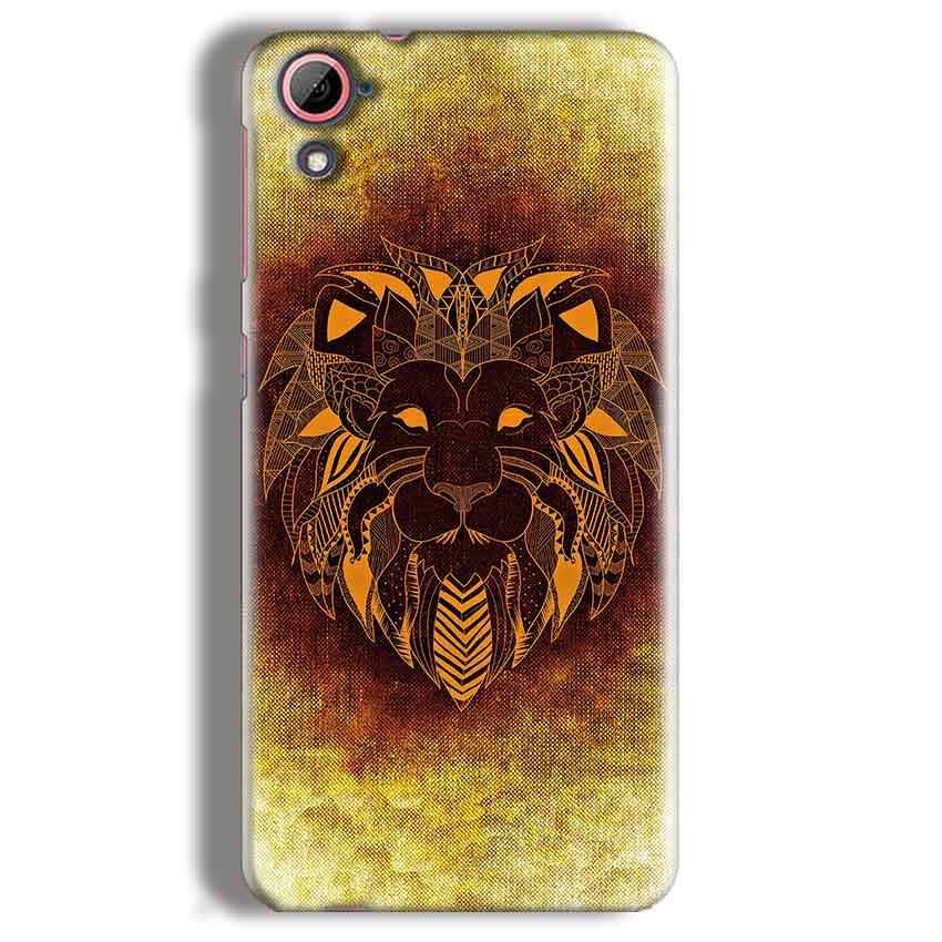 HTC Desire 826 Mobile Covers Cases Lion face art - Lowest Price - Paybydaddy.com