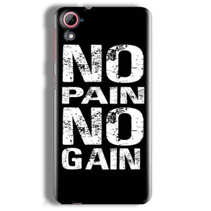 HTC Desire 826 Mobile Covers Cases No Pain No Gain Black And White - Lowest Price - Paybydaddy.com